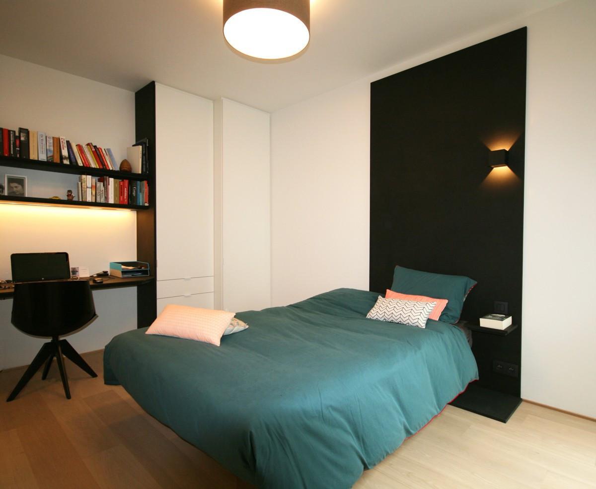 Slaapkamerkast Met Schuifdeuren : Slaapkamerkast met bureau en bedwand ...
