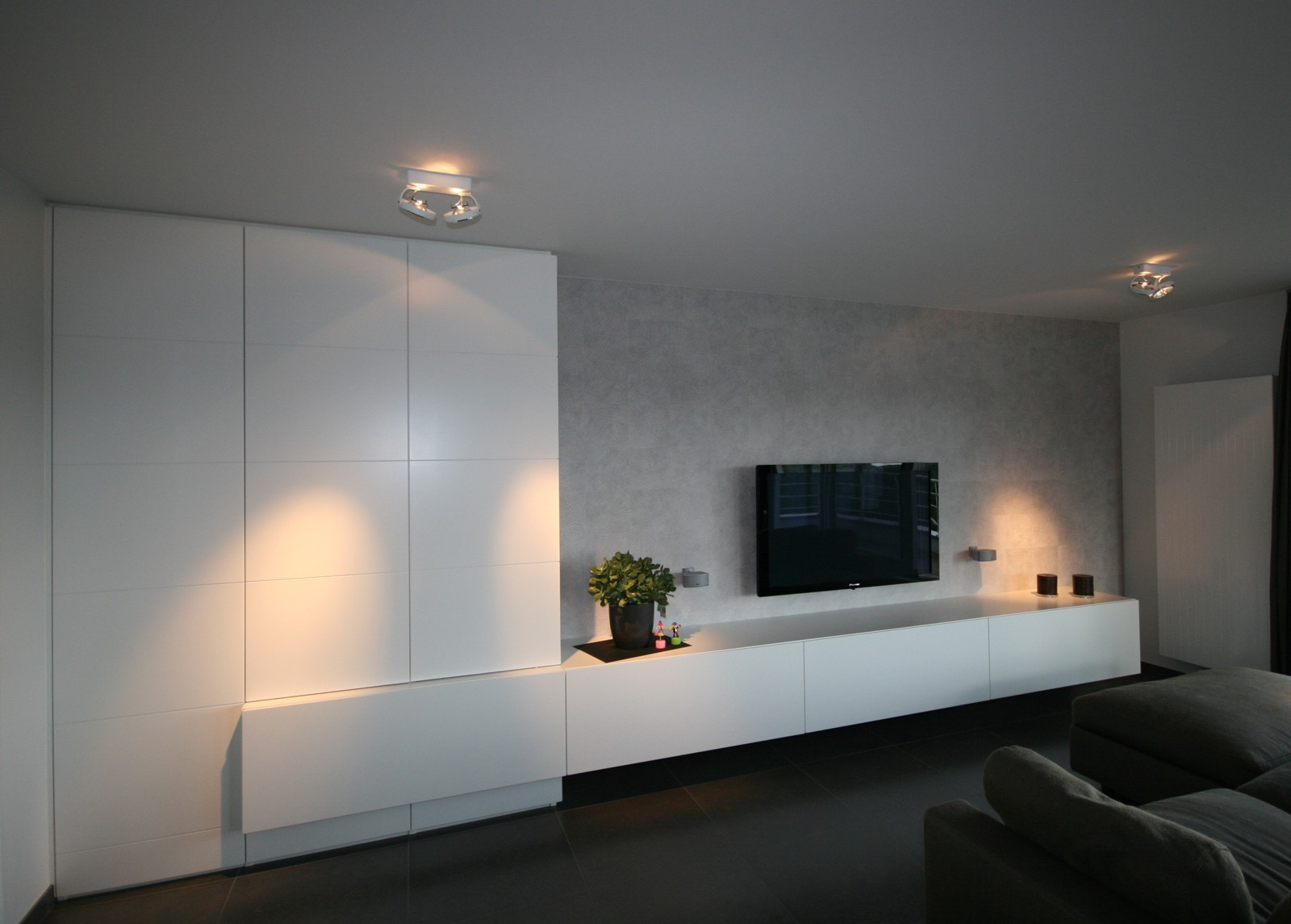 Living Armoires Mobilier Dressings Parois De S Paration Et  # Tv Living Avec Portes Coulissante