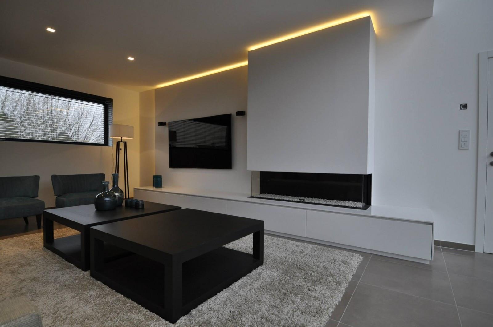 R Alisations Meubles Pour T L Viseur Armoires Mobilier  # Meuble Tv Integre Cheminee Avec Rangement