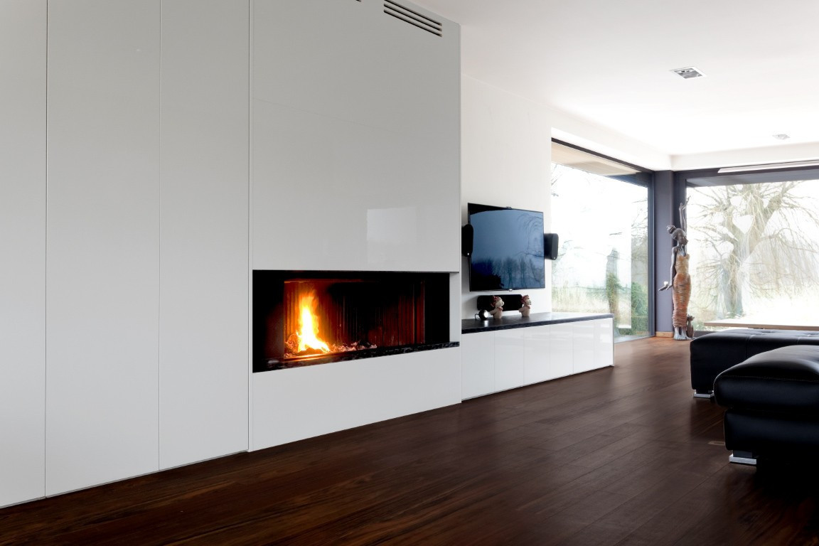 Meuble Tv Sur Mesure Foyer Int Gr Armoires Mobilier  # Meuble Tv Integre Cheminee